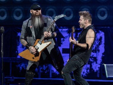 Detroit, Michigan /USA - 03-05-2019: Three Days Grace performing live with Disturbed at Little Caesar's Arena
