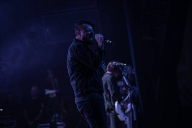 Detroit, Michigan, USA - 11.09.2018: Silverstein performing live at the Majestic Theater with special guest Hawthorne Heights.