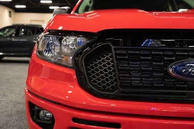 Toledo, Ohio, USA - 02.07.2020: Greater Toledo Auto Show 2020, presented by The Blade, featuring the newest vehicle models and the latest in automotive technology.