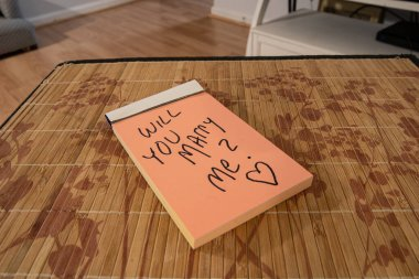 hand written note on your pad says