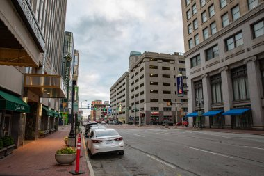 downtown Indianapolis before the Corona Virus Pandemic on 2-24-2020