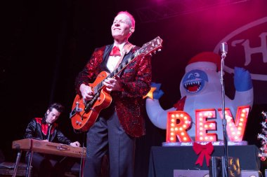 Detroit, Michigan / USA - 11.30.2019: Reverend Horton Heat performs live at the Majestic Theater in Detroit with special guests New Bomb Turks and Voodoo Glow Skulls