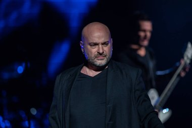 Detroit, Michigan, USA - 03.05.2019: Disturbed performing live at Little Caesar's Arena with special guest Three Days Grace