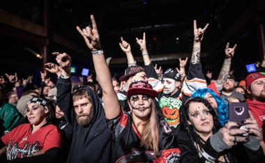 fans on show of TWIZTID and Blaze, American horrorcore duo from Detroit
