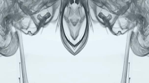 Absztrakt mozgó füst. Törésnyomok. Fehér háttér