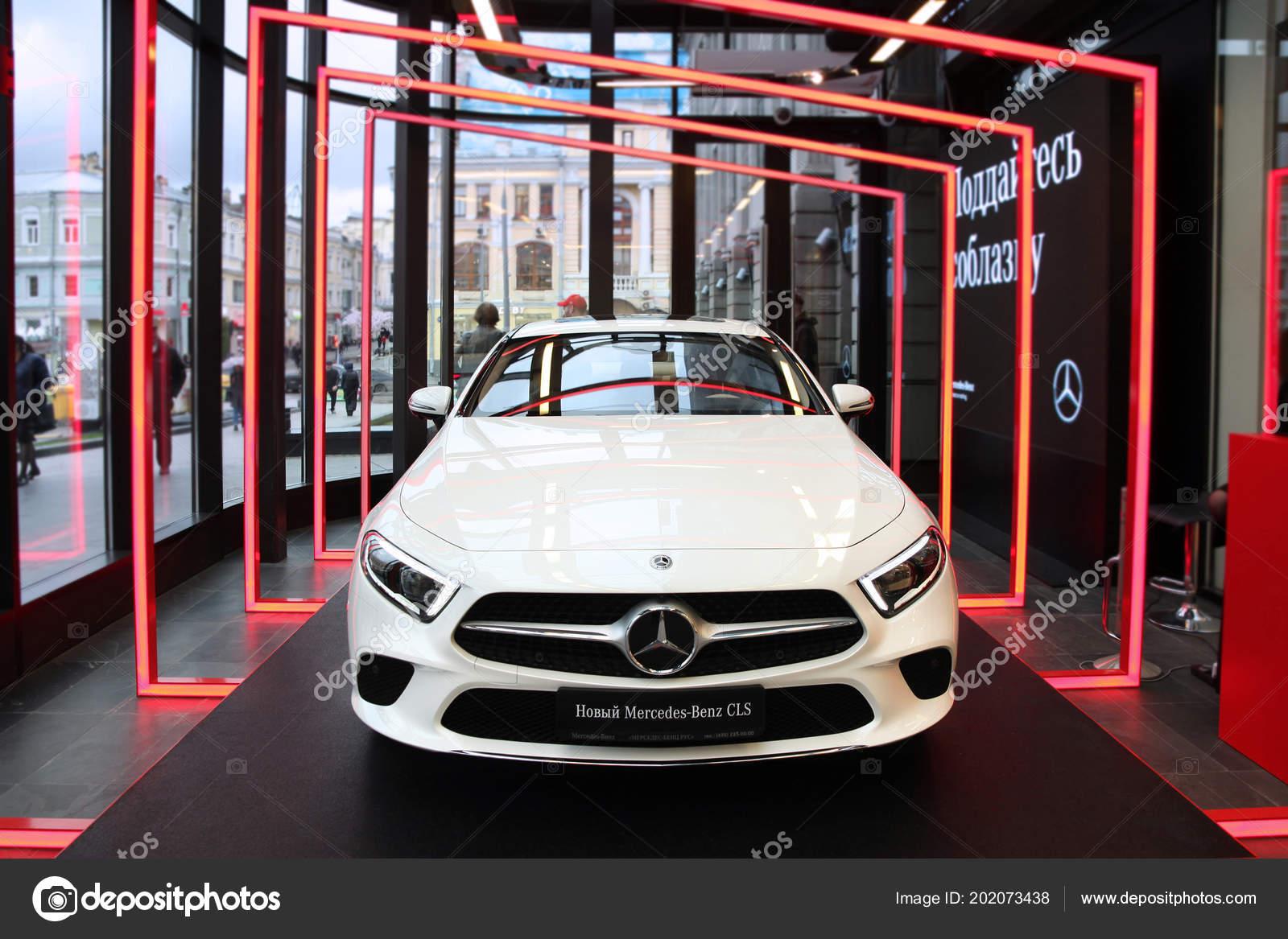 New Car Mercedes Benz Gls Moscow Tsum 2018 U2014 Fotografia De Stock