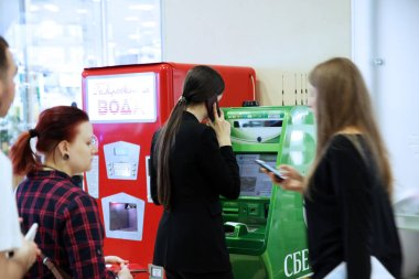 People use the ATM