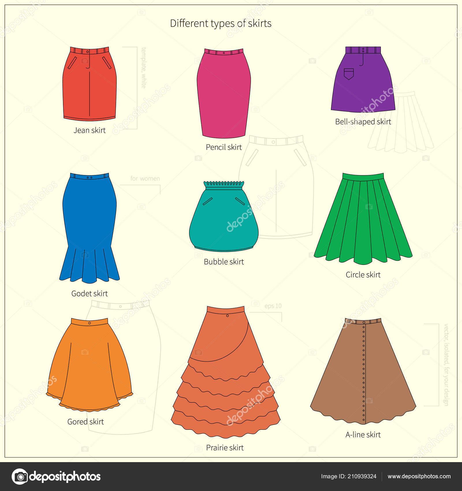 newest 46d4e a5cdc Set Diversi Tipi Gonne Colorate Brillante Semplice Piatto ...