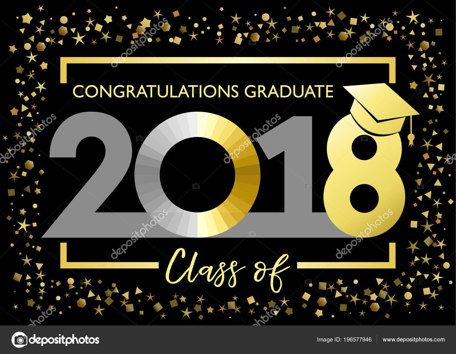 Decoracion De Invitaciones De Graduacion Clase 2018