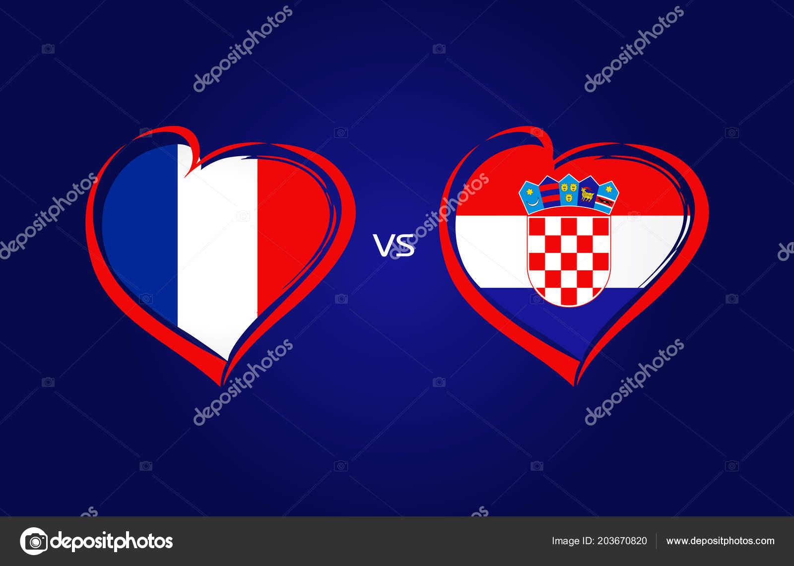 France Croatia Flags National Team Soccer Navy Blue Background ... 3caccc002