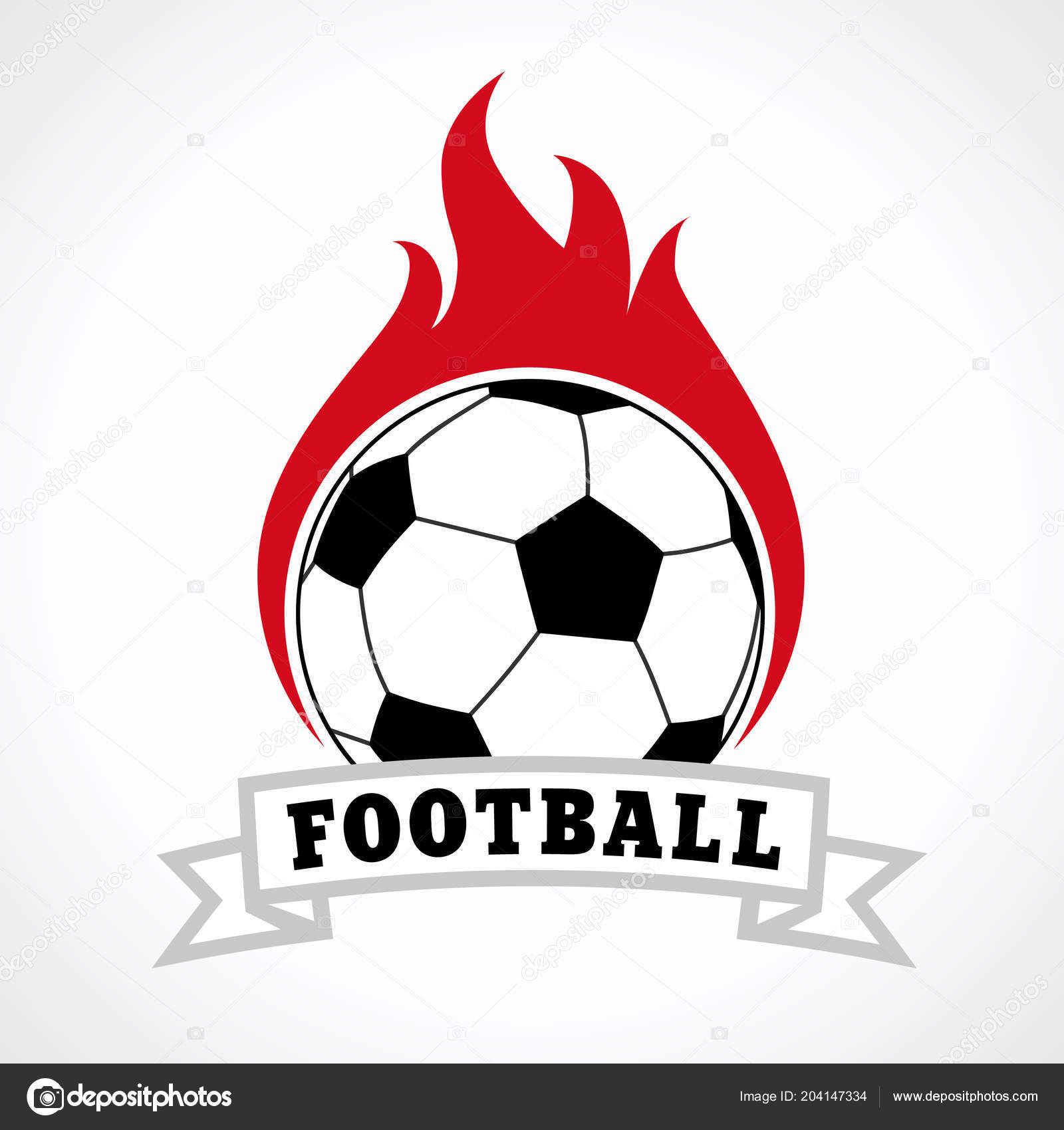 489bd6aea1b7a Emblema Del Logotipo Fútbol Aislado Sobre Fondo Blanco Fútbol Club — Vector  de stock