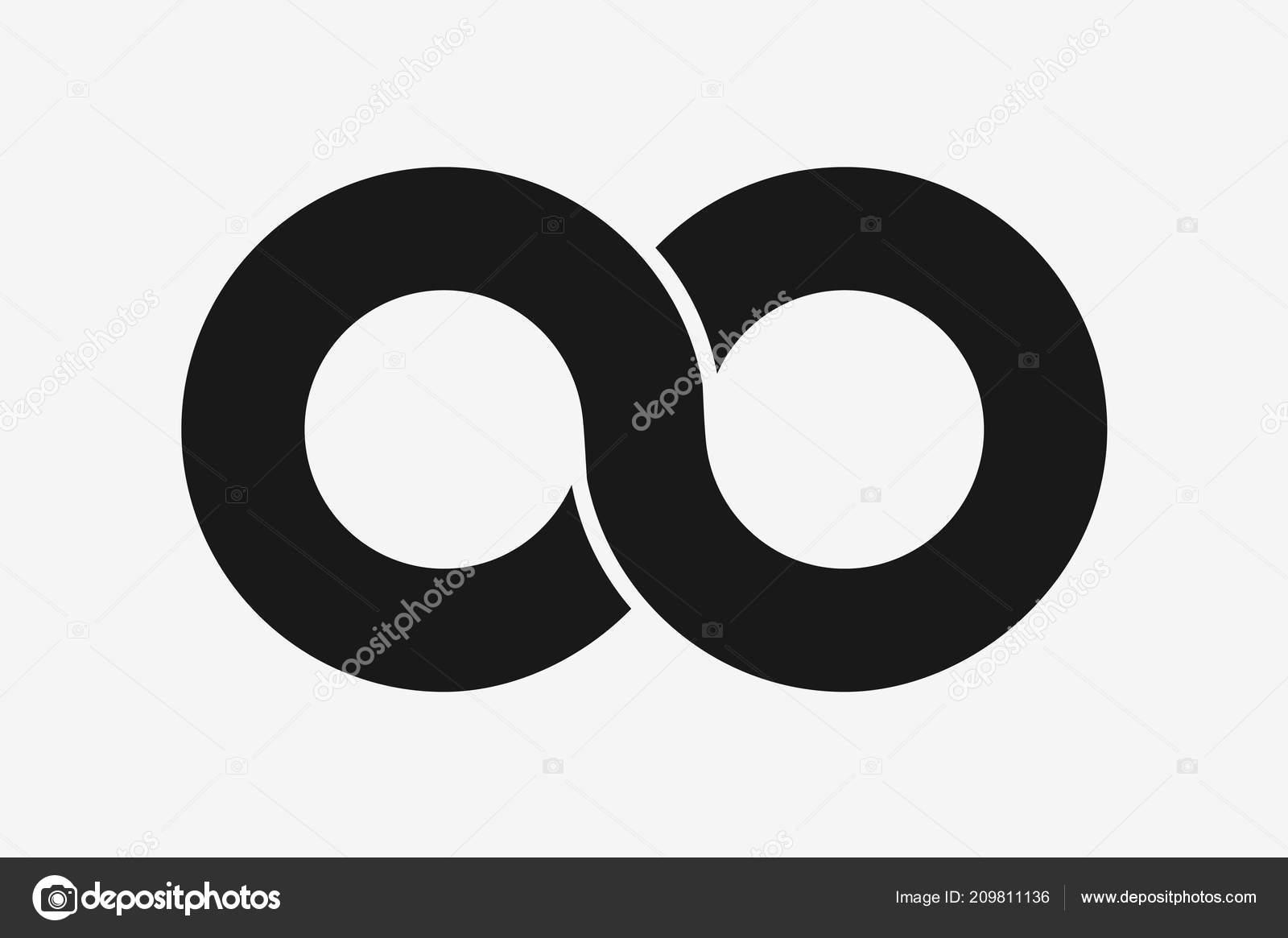 Infinity Symbol Icon Vector Illustration Flat Design Infinity Sign