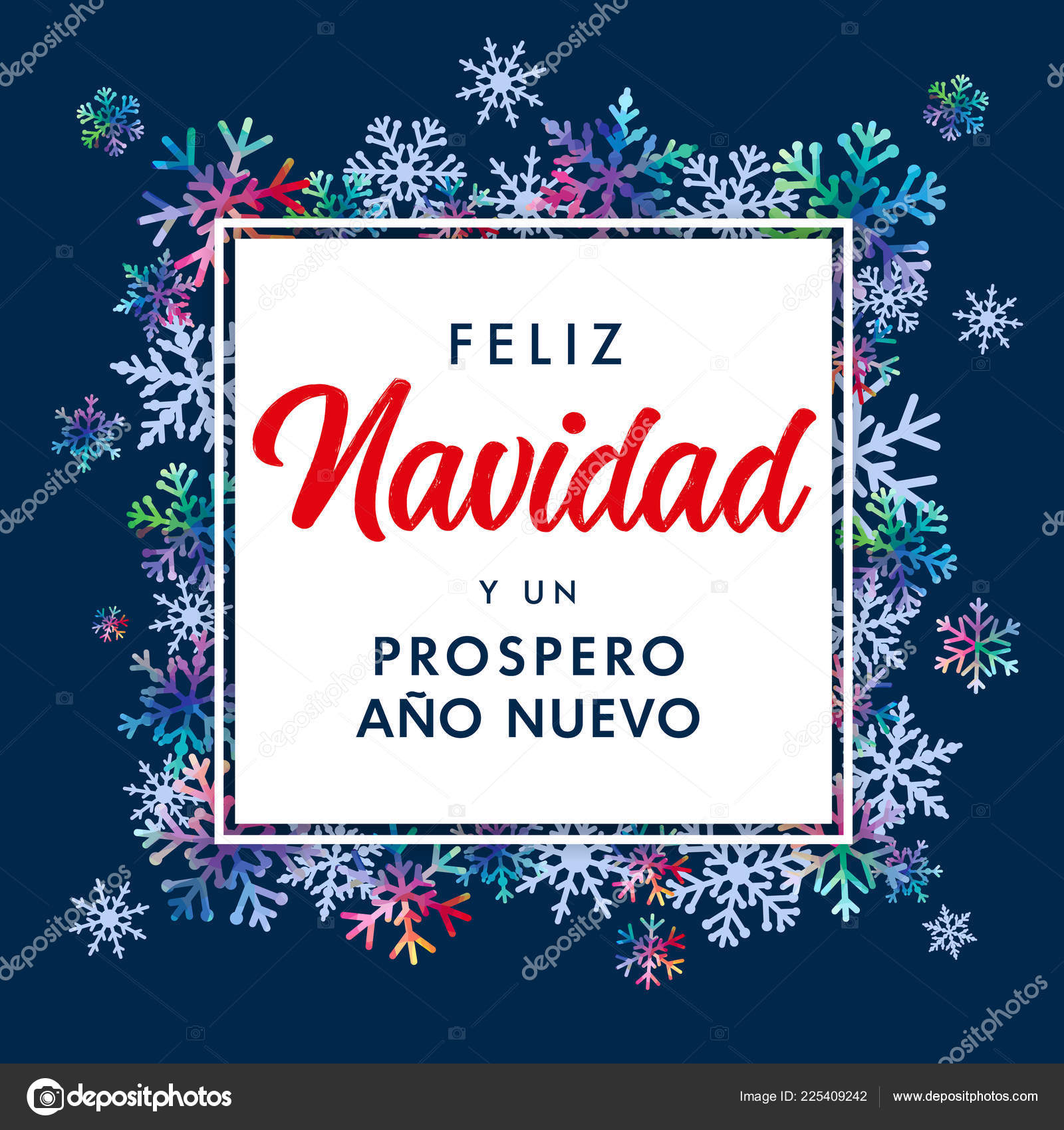 Feliz Navidad Spanish Text Prospero Ano Nuevo Translate Merry ...