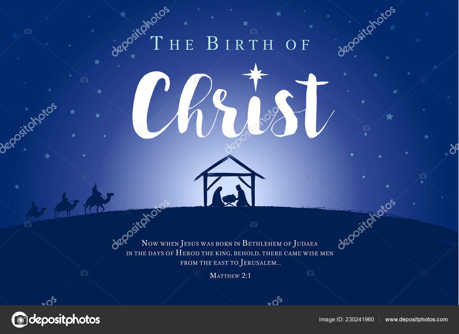 Frohe Weihnachten Jesus.Frohe Weihnachten Geburt Christi Banner Krippe Von Baby