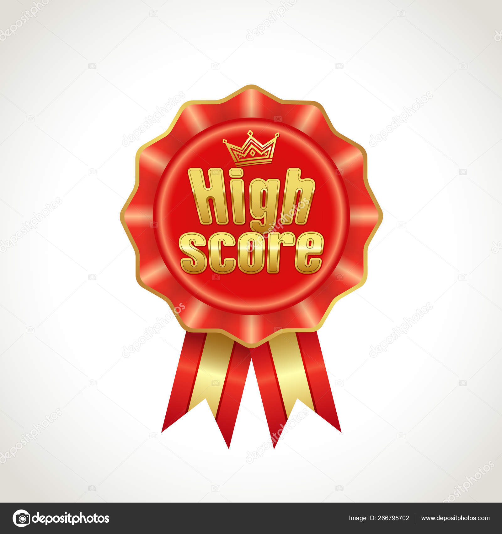 New High Score Golden Game Icon Gaming Decoration Element