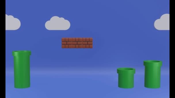 Nahtlose Schleifenillustration Hintergrund mit beweglicher Wolke