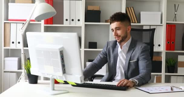 Businessman in suit coat spinning in office-chairu2013 stock footage  sc 1 st  Depositphotos & Businessman Suit Coat Spinning Office Chair u2014 Stock Video ...