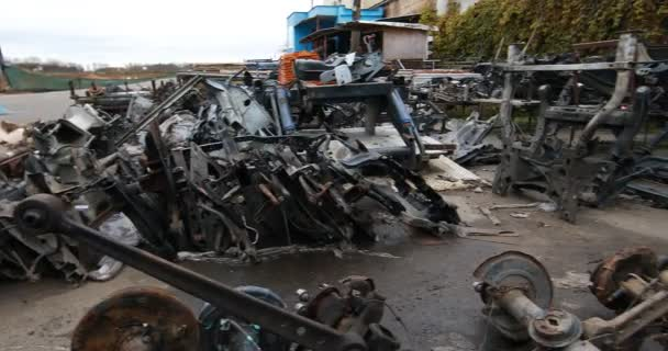 pile of auto parts for car repairs at market