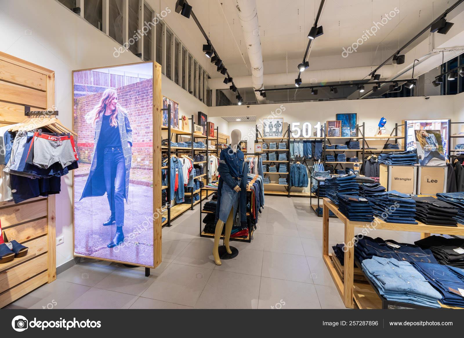 a basso prezzo 5c3b3 3b145 Minsk, Belarus - March 26, 2018: interior shot of Levis shop ...