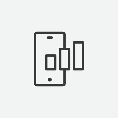 Smartphone icon isolated on background. Network connection symbol modern, simple, vector, icon for website design, mobile app, ui. Vector Illustration icon