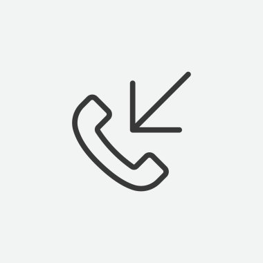 Incoming call icon isolated on background. Communication symbol modern, simple, vector, icon for website design, mobile app, ui. Vector Illustration icon