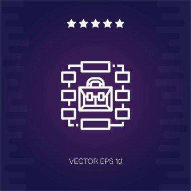 chart vector icon modern illustration