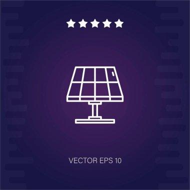 solar panel vector icon modern illustration