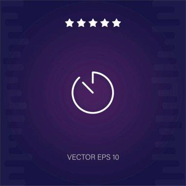 Light clock otline vector icon modern illustration icon