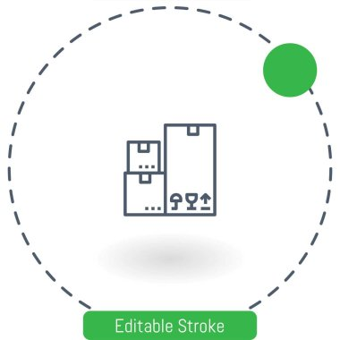 box   vector icon editable stroke outline icons for web and mobile