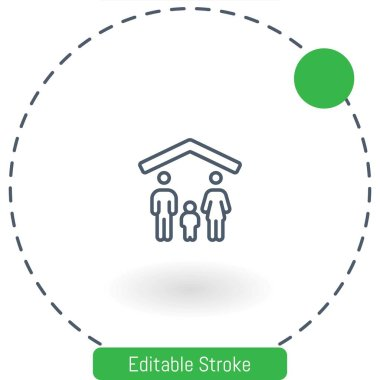 family vector icon editable stroke outline icons for web and mobile