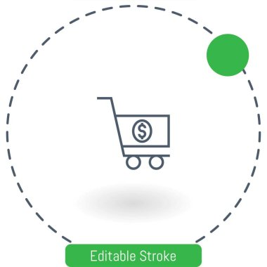 shopping cart   vector icon editable stroke outline icons for web and mobile