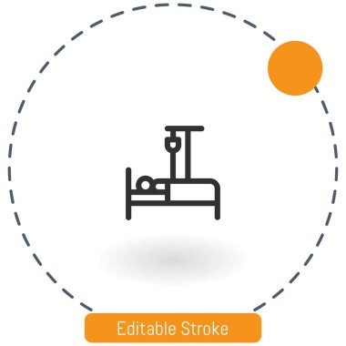 Treatment vector icon editable stroke outline icons for web and mobile icon