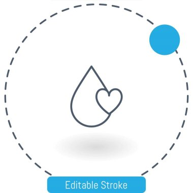 blood   vector icon editable stroke outline icons for web and mobile