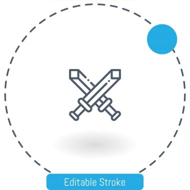 Fight vector icon editable stroke outline icons for web and mobile icon