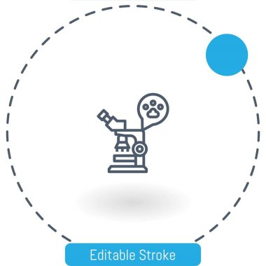 microscopes vector icon editable stroke outline icons for web and mobile