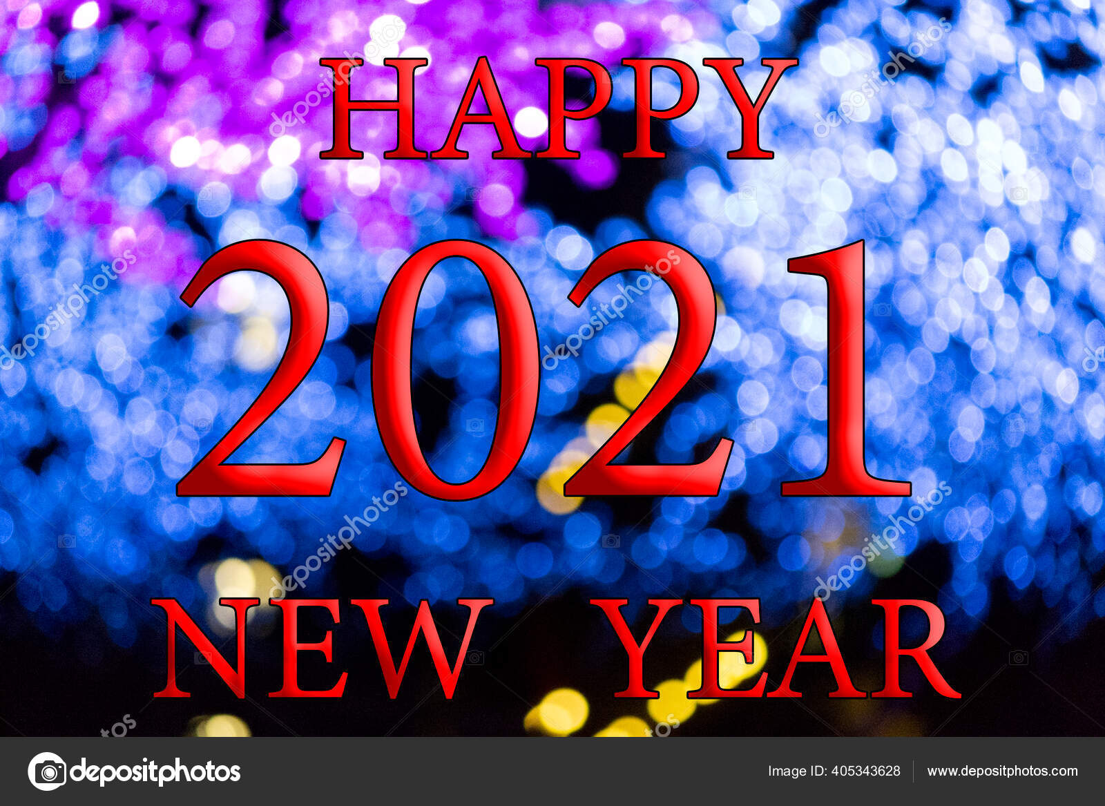 2021 Christmas Lights Happy New Year 2021 Background Bokeh Effect Christmas Lights Different Stock Photo Image By C Ferdel99 405343628