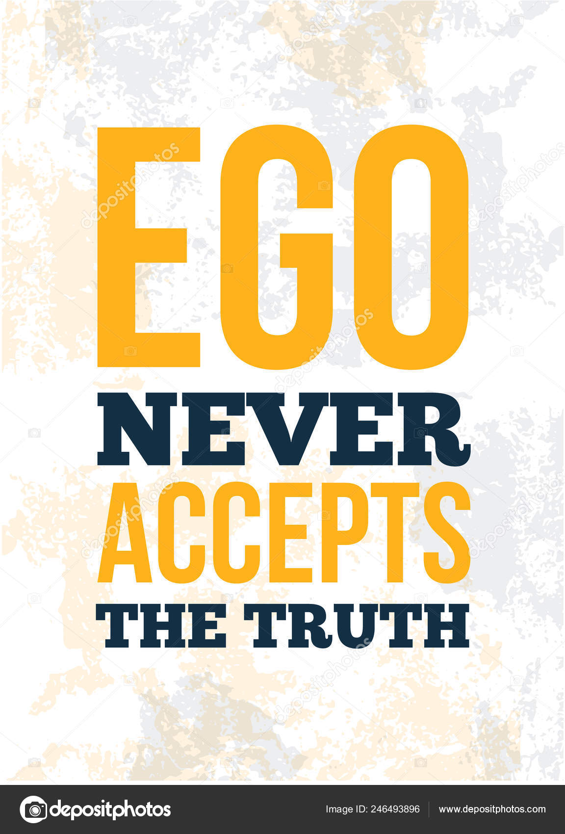 trendy poster ego quote for banner design education concept