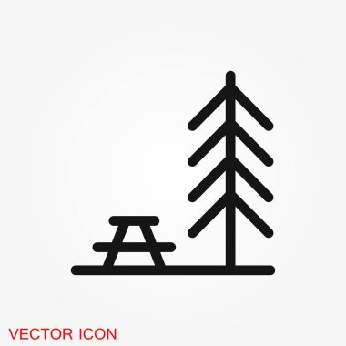 Simple camping icon. Universal camping icons to use for web and mobile UI