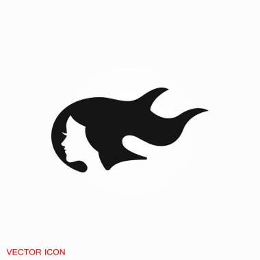 Hairstyle icon. Logo, illustration, vector sign symbol for design
