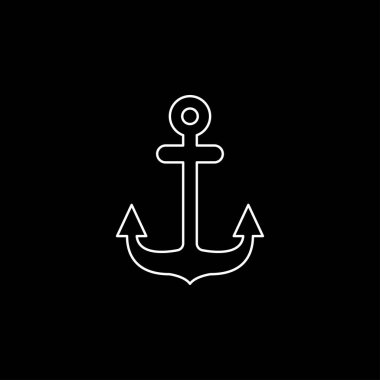 Anchor icon. Anchored flat vector icon for apps