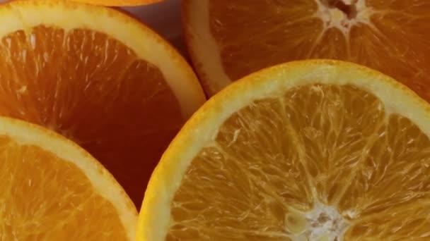 Oranges cut in half for juice