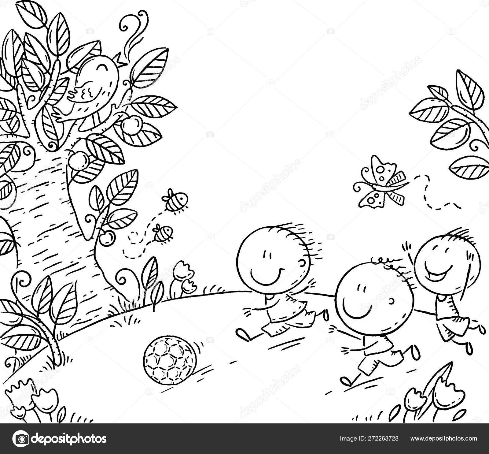 Free Kids Playing Outside Clipart Black And White, Download Free Clip Art,  Free Clip Art on Clipart Library