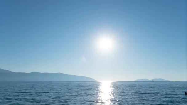 Sunset over adriatic sea in Vlore Albania time lapse