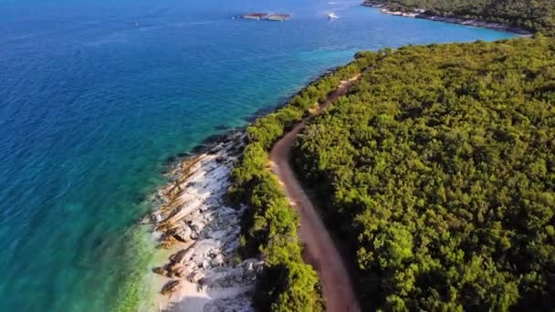 Flying drone over one of the most beautiful beaches