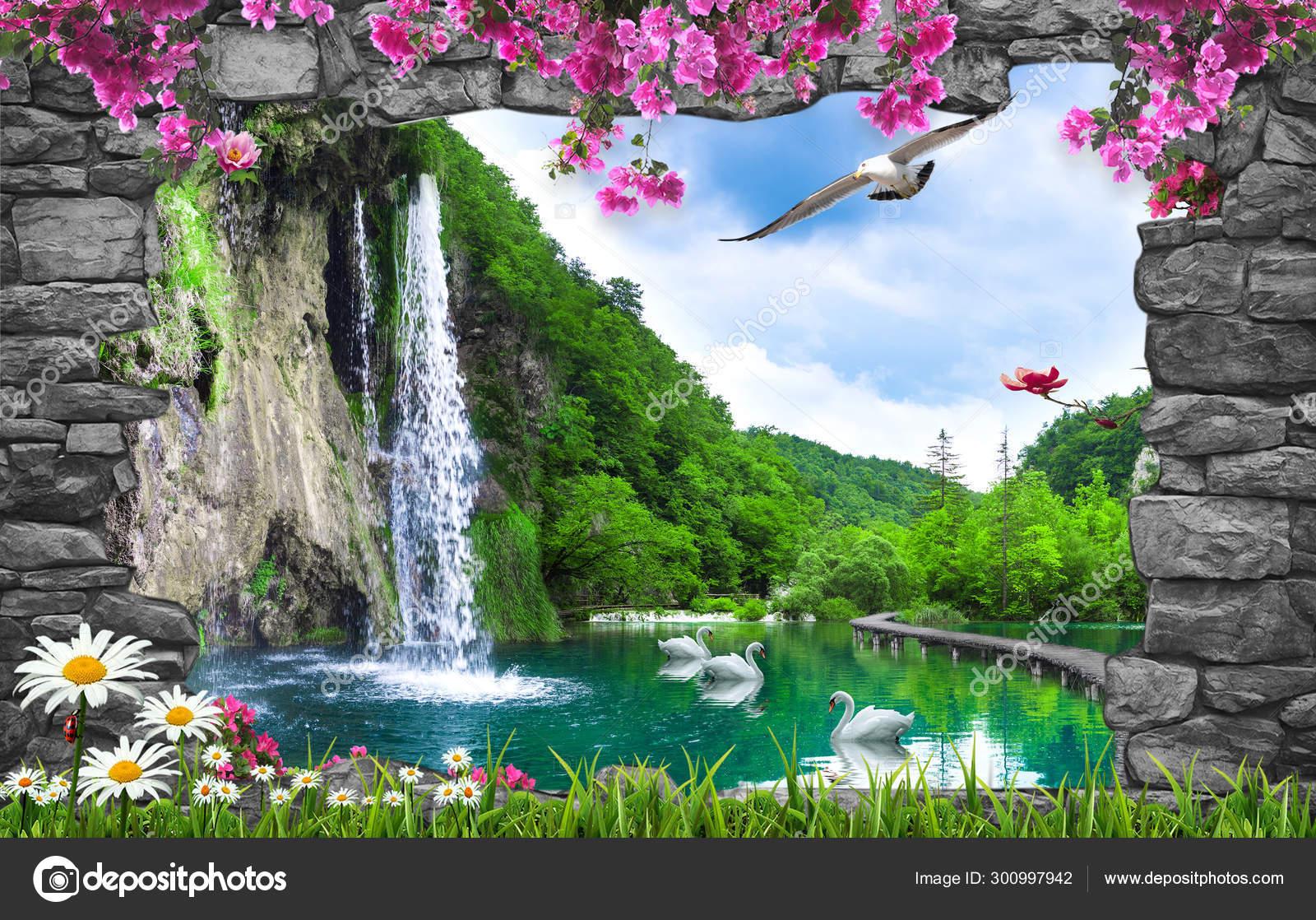 Amazing Nature Background Wallpaper Stock Photo By C Zevahir 300997942