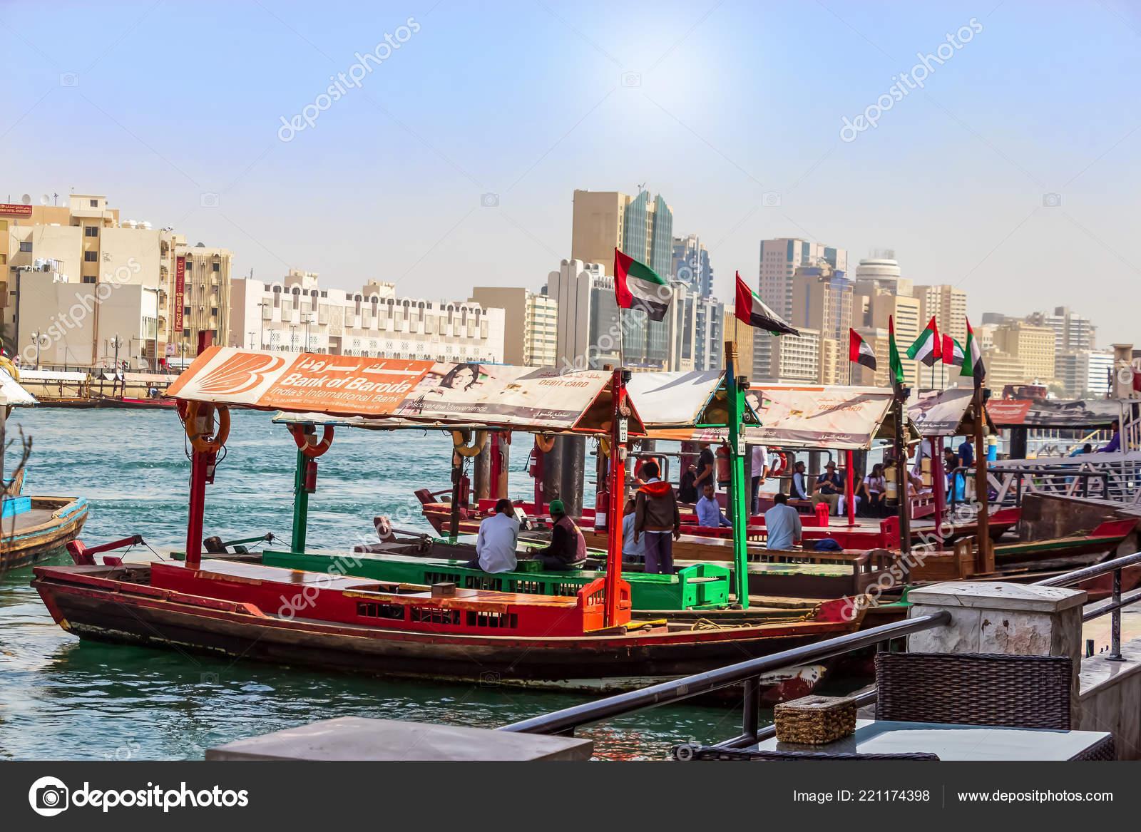 Dubai Uae February 2018 Ancient Means Transportation Arab