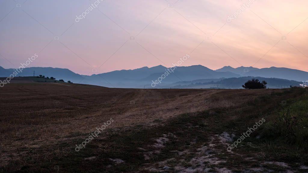 Фотообои beautiful sunset in the mountains of Tatra, slovakia
