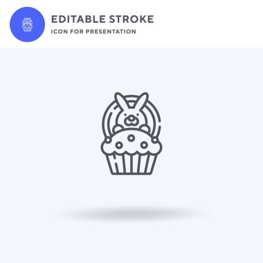 Easter Bunny icon vector, filled flat sign, solid pictogram isolated on white, logo illustration. Easter Bunny icon for presentation. icon