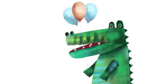 Animation einer Figur, gezeichnet im Stil einer Animationsschleife für Kinder auf weißem Hintergrund