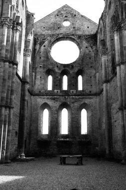 Ancient abbey of San Galgano in Tuscany, Italy